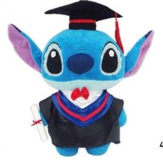 "13"" licensed Disney Stitch Graduation Gift Plush Stuffed Toy"
