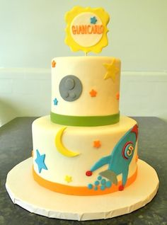 Cute Kid's Space Cake