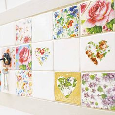 I completely love this! set of patchwork tiles by welbeck tiles | notonthehighstreet.com