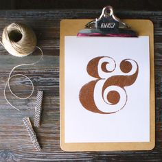 copper ampersand