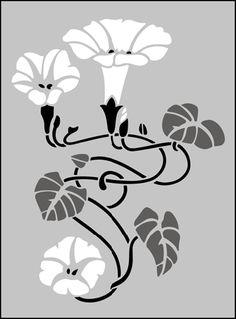 Art Nouveau Motif No hay 74 plantillas, stensils y stencles