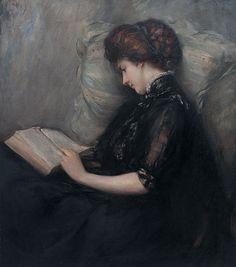 """Lady Reading Poetry Ishibashi Kazunori, 1906 """""""