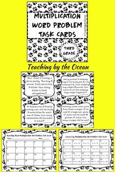 Third Grade Addition Word Problem Task Cards