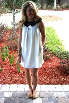 Scallop Dress - Creme