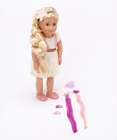 """Our Generation 18"""" Phoebe Extendable-Hair Deluxe Doll Set $24.99 Zulily [another photo] http://mcdn.zulilyinc.com/images/cache/product/79793/zu8728290_alt_1_tm1400636690.jpg"""
