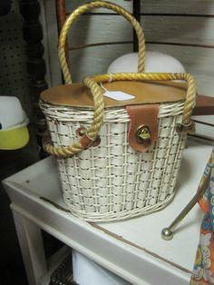 white basket purse