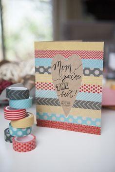 母の日のカードのアイデア☆マスキングテープで簡単手作り♪