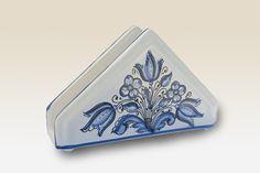 Napkin Holder with blue Flower. 100 by HabanCeramic,