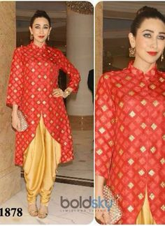 Buy Karishma Kapoor Red Anarkali Suit