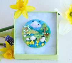 Spring brooch Mothers Day Gift brooch 'Grazing by iwantcraft