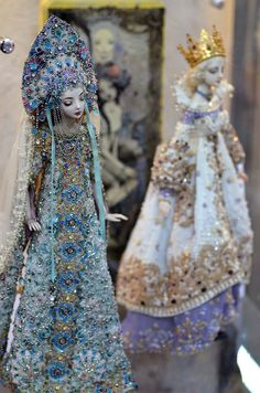 Dolls in full costume (The Snow Maiden -L & Agusta-R) Marina Bychkova