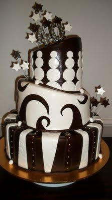 great black and white cake