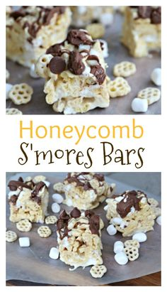 Honeycomb S'mores Bars are AMAZING, and would make for a great Rice Krispies Treat recipe too