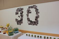 number made out of photographs