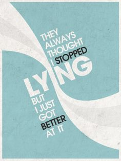 Lying by RenzGFX Provoke Your Graphic Design Inspiration In Typography And Text Art Creative Typography, Typography Art, Lettering, Typography Inspiration, Graphic Design Inspiration, Creative Inspiration, Quotable Quotes, Word Art, Beautiful Words