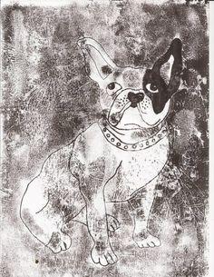 mono print by Anne Whetter