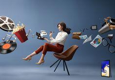 Samsung Galaxy Tab on Behance Ads Creative, Creative Posters, Creative Advertising, Creative Photos, Advertising Design, Advertising Campaign, Hotel Ads, Cv Inspiration, Conceptual Photography