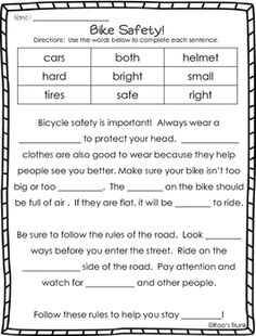 HD wallpapers bike safety worksheets for first grade ...