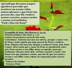 mensagem do padre Marcelo Rossi e evangelho