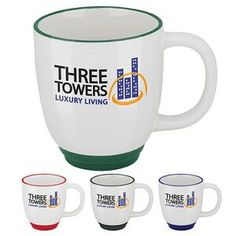 GoodValue Two-Tone Bistro Mug (14 Oz.) Customize these mugs with your company logo, and give to your employees! #kreativekoncepts