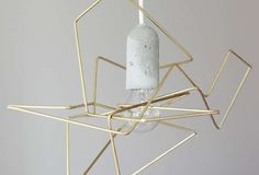 This DIY Geometric Lampshade Has a Polished and Chic Manufactured Look #diy #lighting trendhunter.com