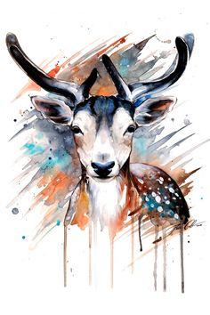 Deer original by PixieColdArt on Etsy