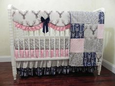 Navy Crib Bedding with Gray Crib Rail Guard Cover Choose Your Pieces Navy Nursery Bedding,1-4 piece Baby Boy Crib Bedding Set Jason