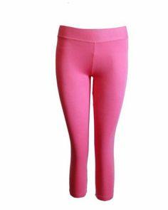 Pink Leggings Three Quarter Length FineBrandShop. $7.50