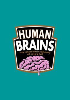 Human Brains Art Print by Aaron Synaptyx Fimister