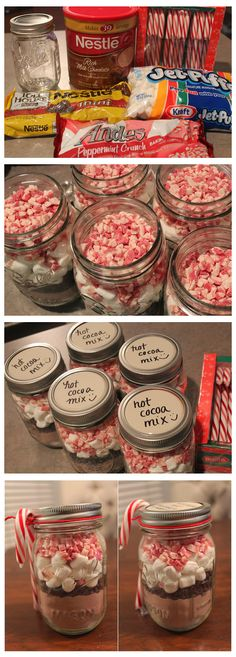 Peppermint Cocoa Mix in a jar www.giftideascorn… Peppermint Cocoa Mix in a jar www. Diy Christmas Gifts For Friends, Christmas Goodies, Holiday Crafts, Christmas Holidays, Christmas Decorations, Christmas Candy, Teacher Christmas Gifts, Christmas Presents For Sisters, Diy Homemade Christmas Gifts