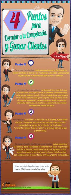 4 puntos para derrotar a tu competencia #infografia #infographic #marketing