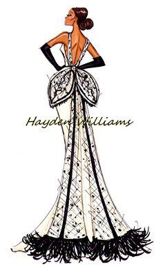 Hayden Williams Fashion Illustrations: Hayden Williams Haute Couture Fall/Winter 2012.13 pt4