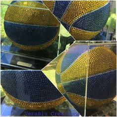 Blinged out blue and gold basketball. All my time and hard work paid off.