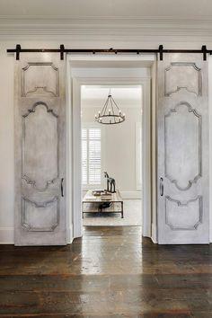 Barn Doors And Hardware House Design, Door Design, House, Barn Door Designs, Custom Homes, Solid Core Interior Doors, Doors Interior, Home Decor, Traditional Doors