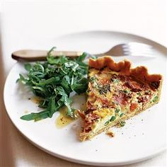 Pea, Ham and Taleggio Tart (Taleggio? Huh? It's a pungent Italian cheese. You can substitute mozz or fontina or just about whatever else you fancy.)