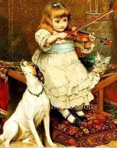 Serenade the Broken String -- Charles Burton Barber (1845 - 1894, English)