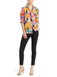 Cotton-Silk Voile Shirt - Lauren Button Downs - RalphLauren.com