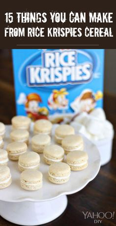 How to make #macarons from rice krispies treats! Save money on almond flour