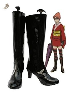 Gintama Kagura Cosplay Shoes Boots Custom Made 2 - Telacos sneakers for women (*Amazon Partner-Link)