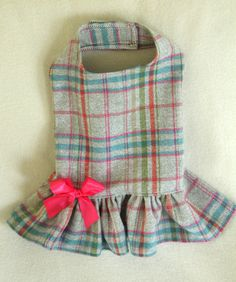 Colorful Soft Plaid Dress for Dogs