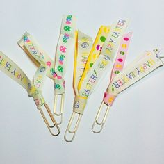 How to make Ribbon paper clips for your planner or journal