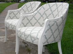 Beautifully refurbished chairs with a fresh by shopoldandnew, $800.00
