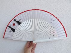 Painted Fan, Andalusia, Trip Planning, Etsy, Cool Stuff, Hand Fans, Travel, Flower, Creative Art