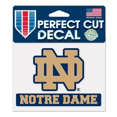 Notre Dame Fighting Irish Decal 4.5x5.75 Perfect Cut Color