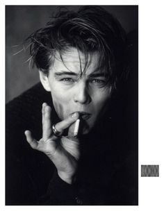 """Leonardo DiCaprio photographed by Greg Gorman, """"I worked with him from the very beginning of his career. I love Leo because he was never particularly caught up in being too masculine or too. Leonardo Dicaprio Smoking, Young Leonardo Dicaprio, Beautiful Boys, Pretty Boys, Pretty Star, Leonardo Dicapro, Cooler Stil, Foto Art, Johnny Depp"""