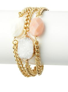 Janna Conner Harper Rose Quartz & Druzy Bracelet at MYHABIT 32