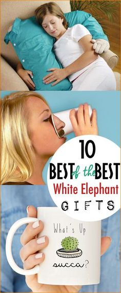 Best of the Best White Elephant Gifts.  Hilarious white elephant gifts for friends with a sense of humor. Gift the funniest gifts to friends and family. Store bought and DIY white elephant gifts worth fighting for.