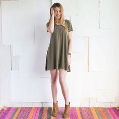 Natural Life - Dark Green Hangout Dress