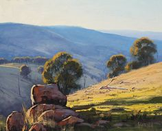 Australian Landscape Painting by Graham Gercken, artsaus on deviantART. paintings are in Oil on Linen canvas using both brush and palette knife