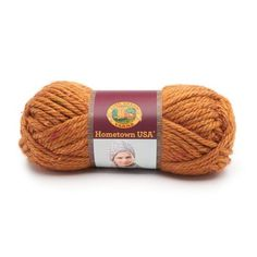 Lion Brand Hometown USA Prints Yarn in Orange Caramel